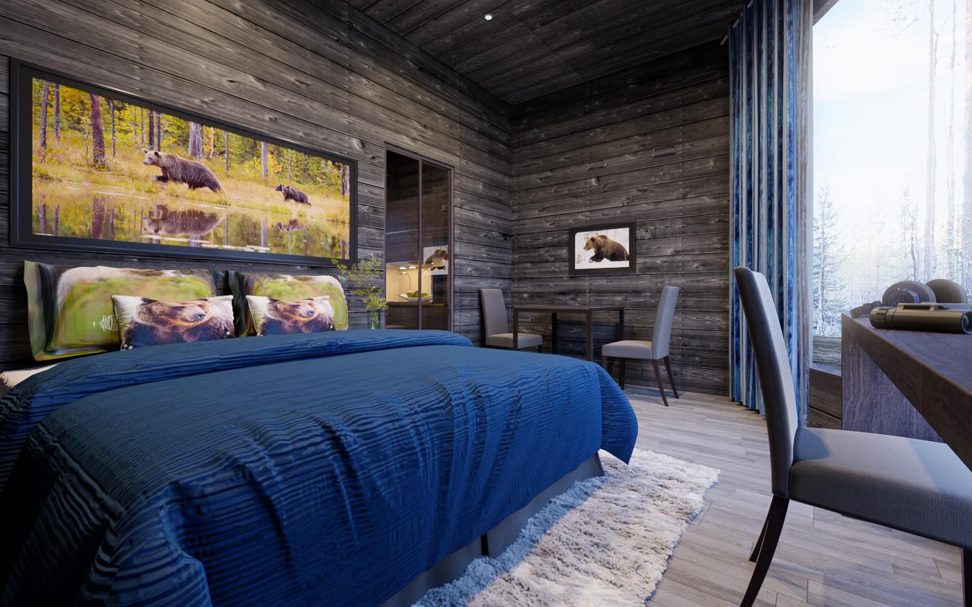 Luxury bear cabin - Финляндия. Идите лесом!