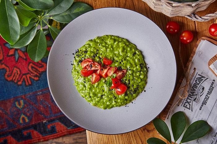 Extra Virgin zelenoe rizotto - Сентябрь. Открытия новых ресторанов