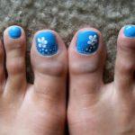 Blue with White Flower Pedicure 150x150 - e5bbdf0a