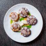 Ravioli Octopus 150x150 - Розовое ризотто с татаки из лосося, красной икрой и сливочным сыром (790 р.)