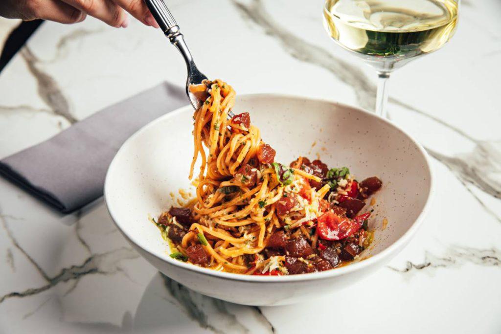 Pasta s marmeladom iz tuntsa 1024x683 - Новое меню московских ресторанов в феврале
