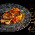 Fua gra s lichi yagodami godzhi i tamarindovim soysom 150x150 - Interier_